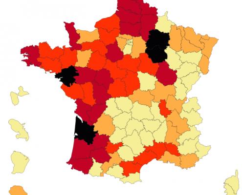 Carte de France des pesticides dangereux les plus vendus près de chez vous